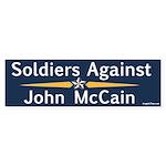 Soldiers Against John McCain bumper sticker
