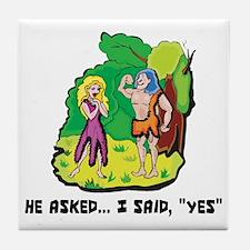 Engagement Announcement Tile Coaster