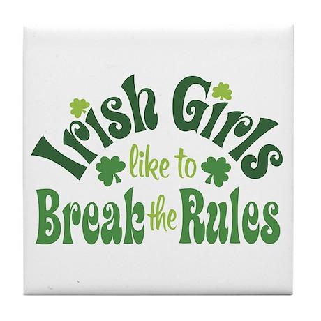 Irish Girls Tile Coaster