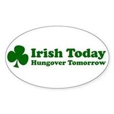 Irish Today Oval Decal