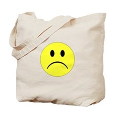 Sad Smiley Tote Bag
