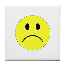 Sad Smiley Tile Coaster