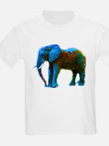 Pop Art Elephant Kids T-Shirt