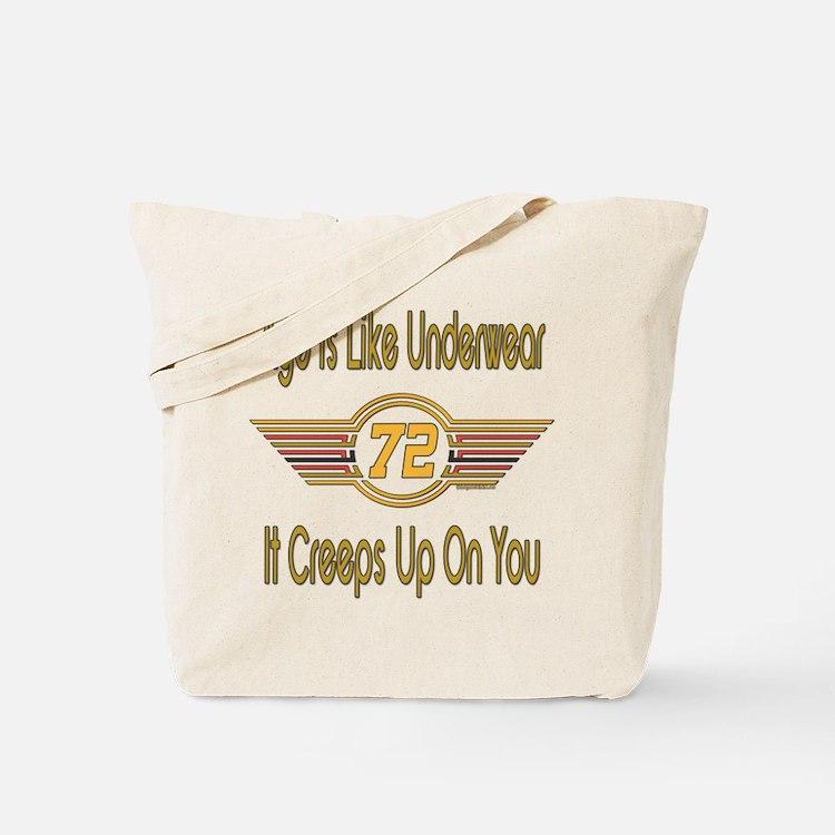 Funny 72nd Birthday Tote Bag