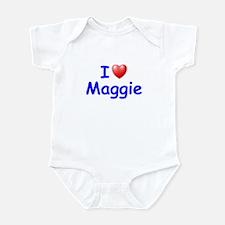 I Love Maggie (Blue) Infant Bodysuit