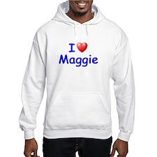 I Love Maggie (Blue) Hoodie