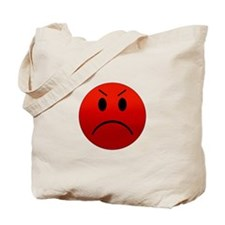 Mean Smiley Tote Bag