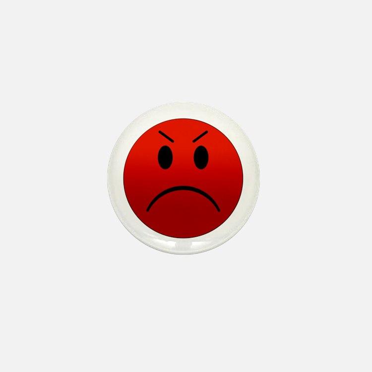 Mean Smiley Mini Button