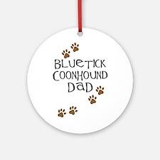 Bluetick Coonhound Dad Ornament (Round)