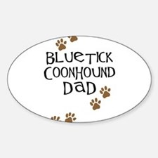 Bluetick Coonhound Dad Oval Decal