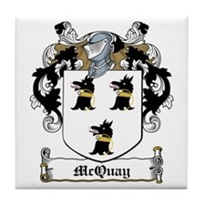 McQuay Family Crest Tile Coaster