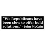 McCain on Republicans (bumpersticker)