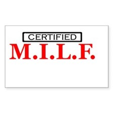 certified milf Rectangle Decal