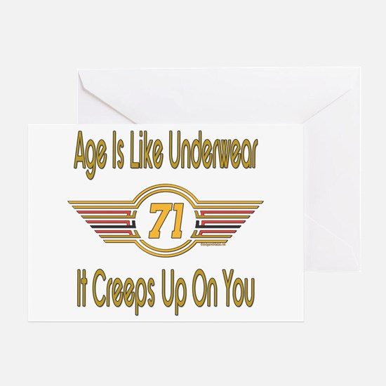 Funny 71st Birthday Greeting Card