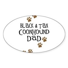 Black & Tan Coonhound Dad Oval Decal