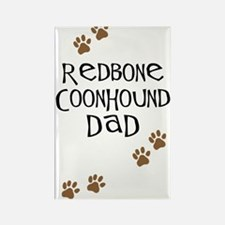 Redbone Coonhound Dad Rectangle Magnet (10 pack)