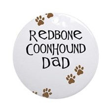 Redbone Coonhound Dad Ornament (Round)
