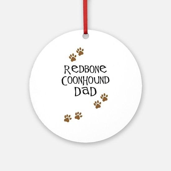 Redbone Coonhound Dad Ornament (Round)