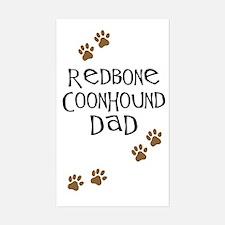Redbone Coonhound Dad Rectangle Decal