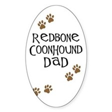 Redbone Coonhound Dad Oval Decal