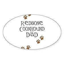 Redbone Coonhound Dad Oval Decal