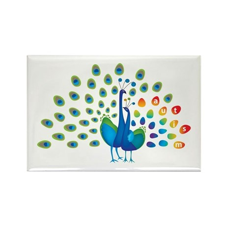 Autism peacocks Rectangle Magnet (100 pack)