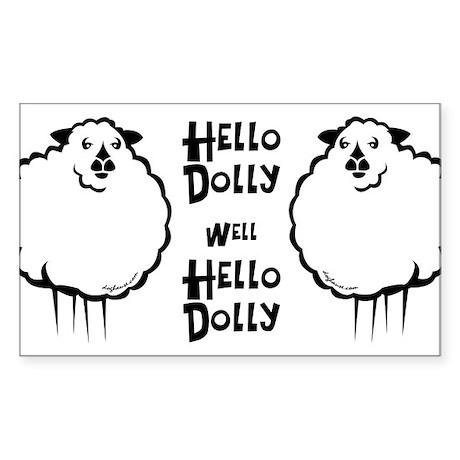 Hello Dolly Sheep Rectangle Sticker