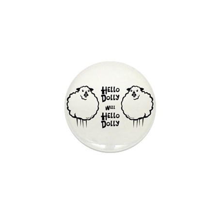 Hello Dolly Sheep Mini Button (10 pack)