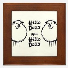 Hello Dolly Sheep Framed Tile