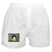 Lilies (Monet) & Japanese Chin Boxer Shorts