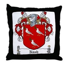 Nash Family Crest Throw Pillow