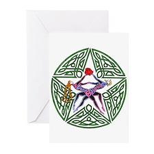 Lovers' Pentagram Note Cards (Pk of 10)
