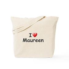 I Love Maureen (Black) Tote Bag