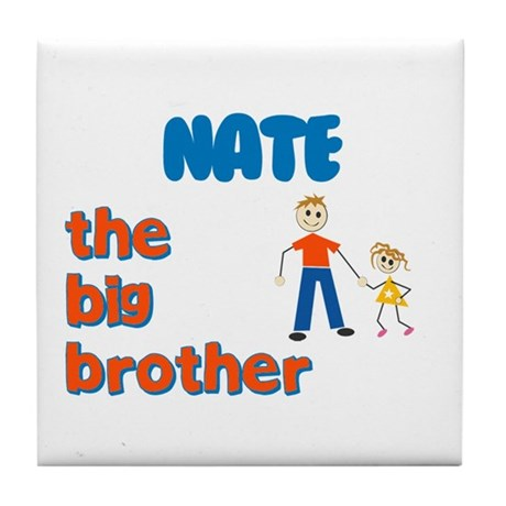 Nate - The Big Brother Tile Coaster