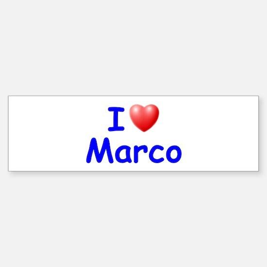 I Love Marco (Blue) Bumper Bumper Bumper Sticker