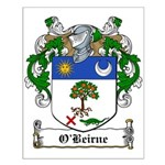 O'Beirne Family Crest Small Poster