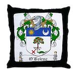 O'Beirne Family Crest Throw Pillow