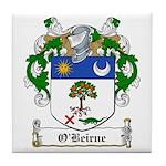 O'Beirne Family Crest Tile Coaster