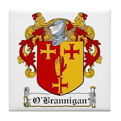 O'Brannigan Family Crest Tile Coaster