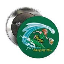 "Surf'n Irish Leprechaun 2.25"" Button"