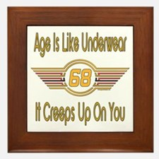 Funny 68th Birthday Framed Tile