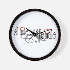 Shameless Female Wall Clock