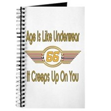 Funny 66th Birthday Journal