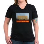 KGB Headquarters Women's V-Neck Dark T-Shirt