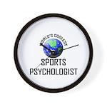 World's Coolest SPORTS PSYCHOLOGIST Wall Clock