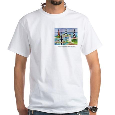 NC Light Houses White T-Shirt