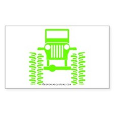 colors big wheel Rectangle Decal