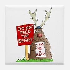 Do Not Feed the Bears Tile Coaster