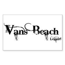 Van's Beach Cowboy Rectangle Decal
