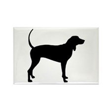 Coonhound Rectangle Magnet
